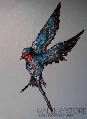 Marcin Stawny-GREY BIRD #1-Akryl