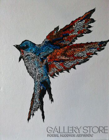 Marcin Stawny-GREY BIRD #2-Akryl