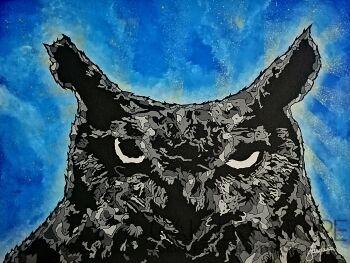 Marcin Stawny-POP OWL-Akryl