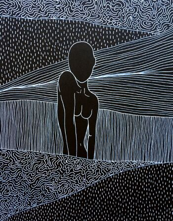 Marcin Waśka-Bodies in motion 2-Rysunek