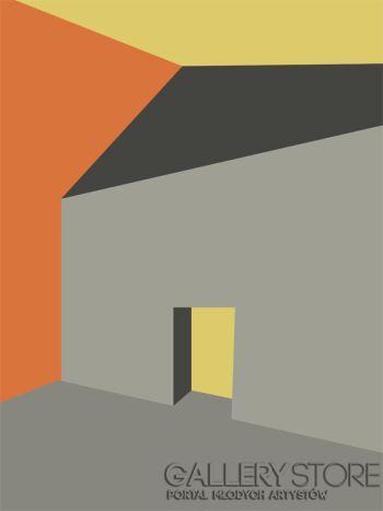 Marcin Waśka-Plakat- Bryły 7-Grafika