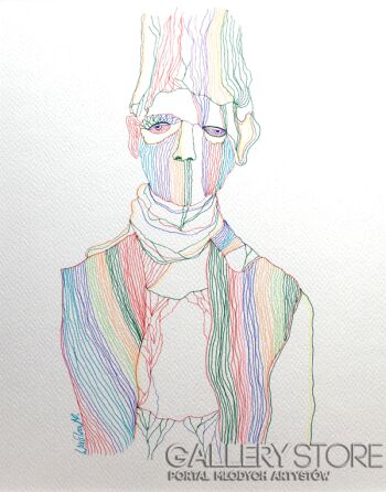 Marcin Waśka-Tęczowy Chłopak-Rysunek