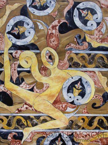 Maria Michoń-Mozaika celtycka-Akryl