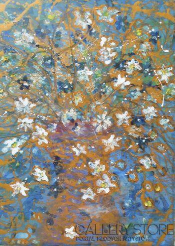 Mariola Świgulska-Łatwo chwalić kwiaty-Technika mieszana
