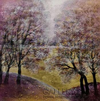 Mariola Świgulska-Ozłocone wzgórza lawendy-Akryl