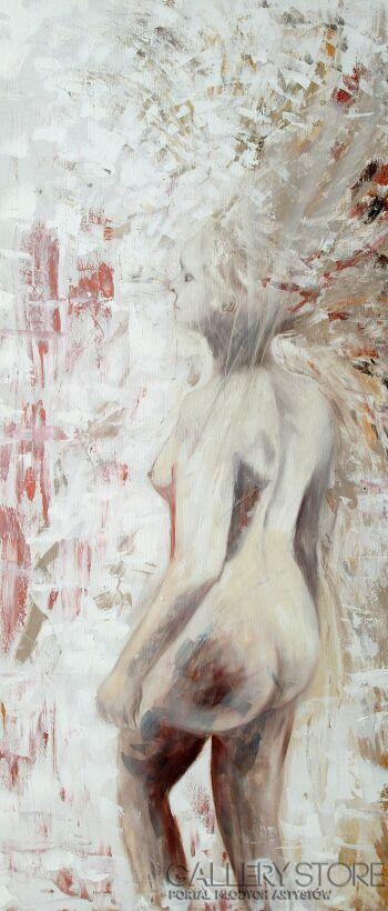 Mariola Świgulska-Spacer (Autoportret)-Olej
