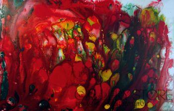Mariola Świgulska-Wibracja kwiatu-Akryl