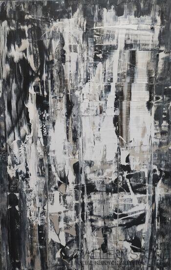 Mariola Świgulska-Wibracje czerni i bieli-Akryl