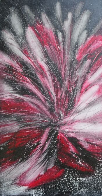 Mariola Świgulska-Wnętrze galaktycznego kwiatu-Olej