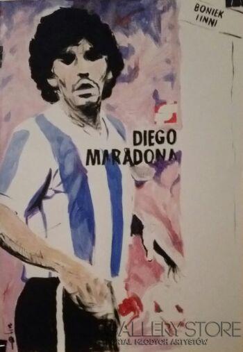 Mariusz Harmasz-Diego Maradona-Technika mieszana