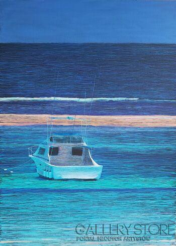 Mariusz Kitowski-Another Boat in Paradise-Akryl