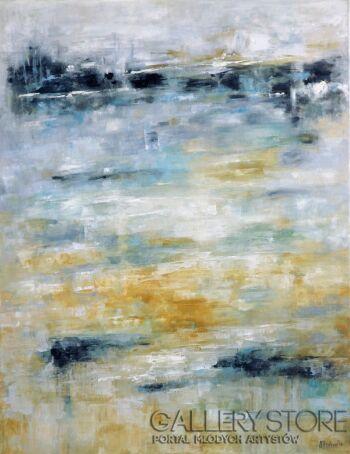 Marta Machowicz-Poza horyzontem pejzaż abstrakcji -Olej