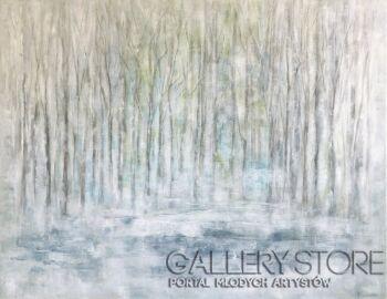Marta Machowicz-Szelest lasu mgła -Olej