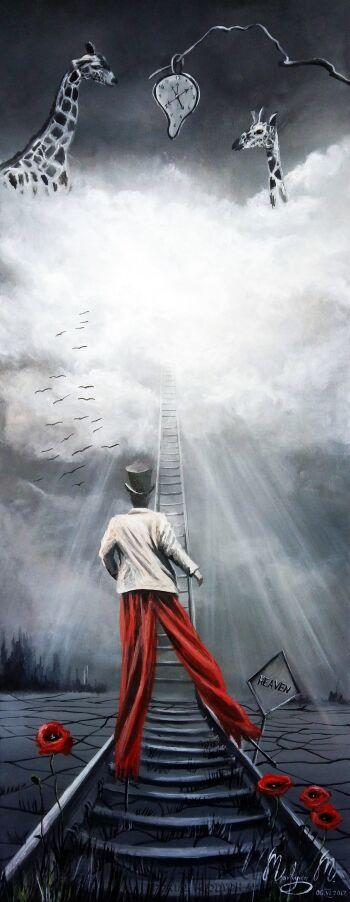Martyna Mączka-Droga do nieba-Akryl