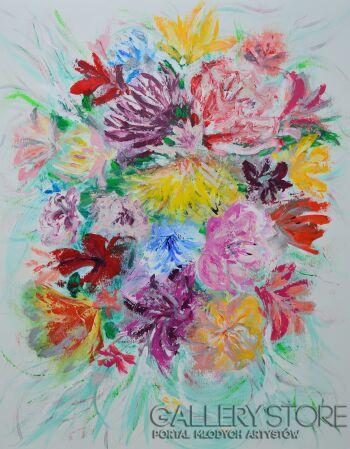 Martyna Wójcik-Kwiaty-Akryl