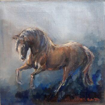 Michalina Derlicka-Niebieski koń-Olej