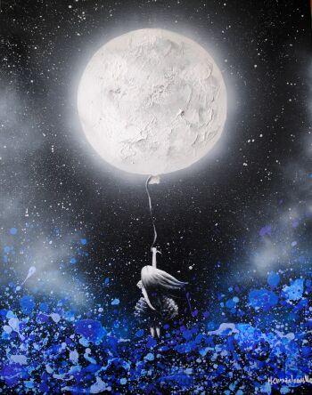Milena Chmielewska-Blue - wydruk artystyczny-Giclee