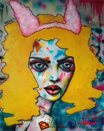 Milena Chmielewska-comix's hunny bunny-Akryl
