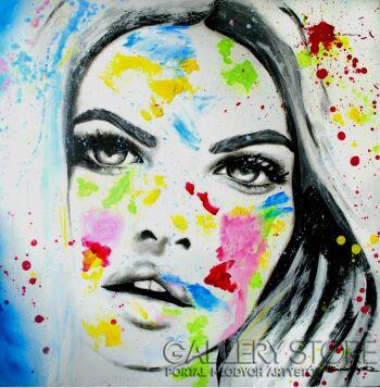 Milena Chmielewska-She is the color XXIII-Akryl