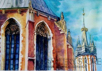 Monika Borowicz-Gotyk - Kościół Mariacki -Akwarela