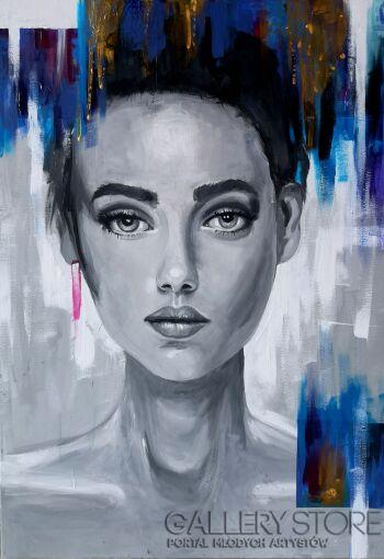Monika Krupa-Her mind-Akryl
