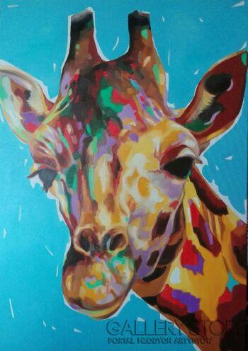 Monika Łakomska-Glam pop żyrafa-Olej