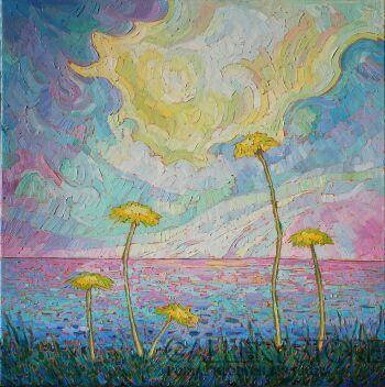 Monika Siwiec-Yellow rays -Olej