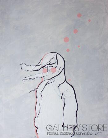 Nadia Mitłosz-Wiatr we włosach-Akryl