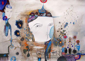 Natalia Pastuszenko-Kochać kwiaty-Akwarela