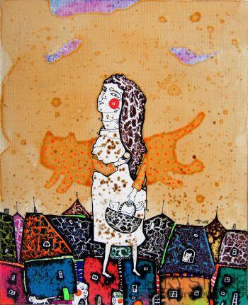 Natalia Pastuszenko-Koci stróż-Akryl