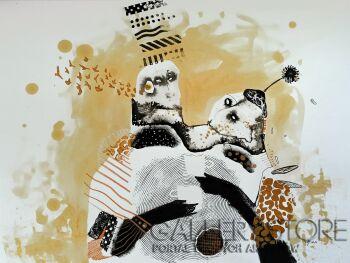 Natalia Pastuszenko-Rozmowy przy kawie-Technika mieszana