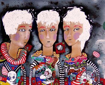 Natalia Pastuszenko-Trzy siostry-Akryl