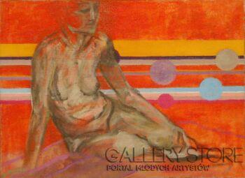 Natalia Rozmus-akt _orange-Akryl