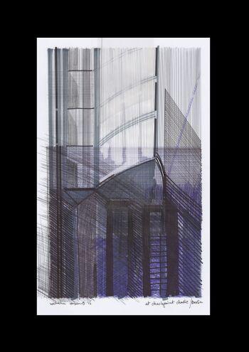 Natalia Rozmus - Esparza-Deconstructing Berlin / At Checkpoint Charlie / seria-Rysunek