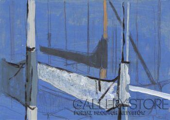 Natalia Rozmus - Esparza-Holandia maszty | Zeewolde boats-Akryl