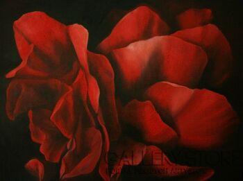 Natalia Ziomek- Wilusz-Czerwona róża-Olej