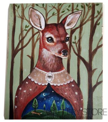 Patrycja Prószyńska-Dama lasu-Akryl