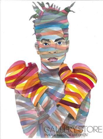Paweł Dąbrowski-Jean-Michel Basquiat-Akwarela