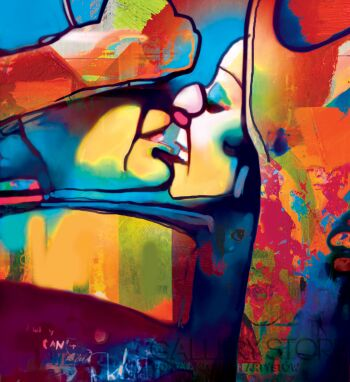 Piotr  Gola-A kiss II-Grafika