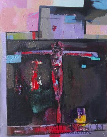 Piotr  Gola-Crucifixion-Olej