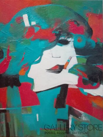 Piotr  Gola-Kobieta z papierosem-Olej