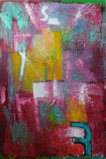 Piotr  Gola-Red Abstract No.3-Olej