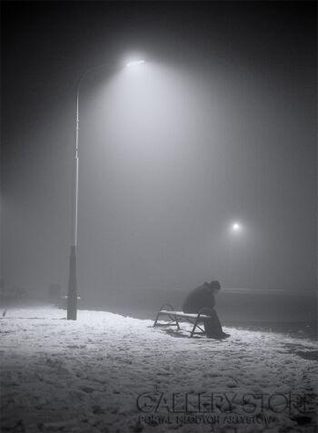 Piotr Kosiński-Samotność II - Autoportret #autoportret-Fotografia