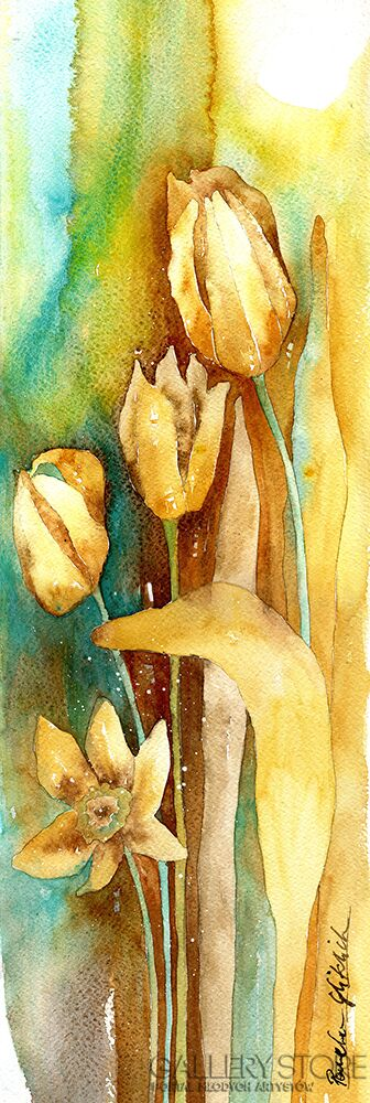 Pracownia Aquarelle Klaudia Pawelec-Gliklich-Brązowy tulipan I -Akwarela