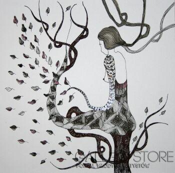 Pracownia Aquarelle Klaudia Pawelec-Gliklich-Drzewo życia V -Rysunek