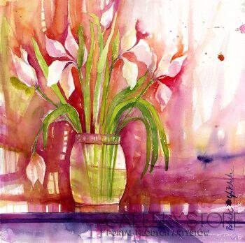 Pracownia Aquarelle Klaudia Pawelec-Gliklich-Kwiaty w wazonie -Akwarela