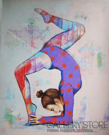 Renata Magda-Gimnastyczka -Akryl