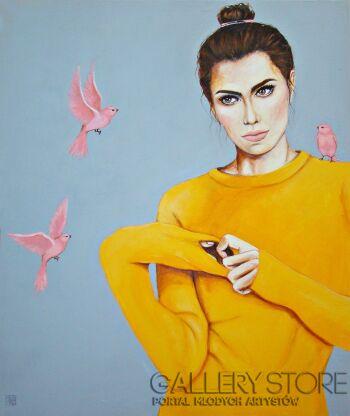Renata Magda-Myśli latające -Akryl