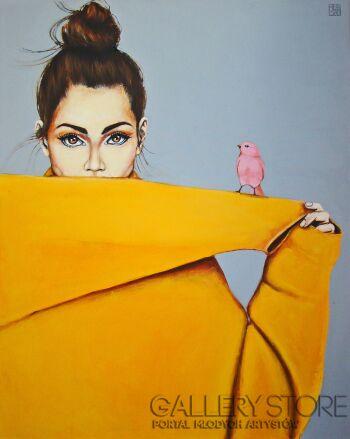 Renata Magda-Pink bird V-Akryl