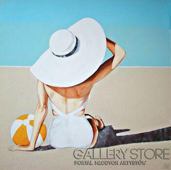Renata Magda-Spotkanie na plaży ...-Akryl